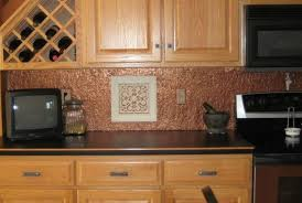 copper backsplash for kitchen faux tin or copper backsplash diy on a budget with lots of photos