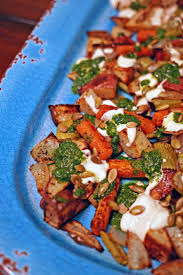 Roasted Vegetables Recipe by Roasted Vegetables With Chile Yogurt Cilantro Mint Sauce And