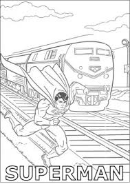 superman and train superman coloring pages free printable