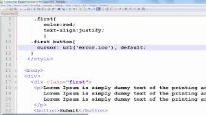 css tutorial in urdu css cursor property part 2 lec 30 css tutorial for beginners in