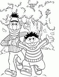 awesome free sesame street cartoon coloring pages kids