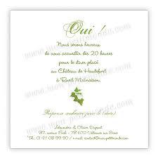 invitã e mariage invitation mariage branche de lierre mon petitmonde