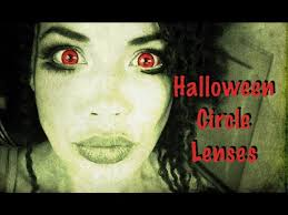 trying on red contacts for halloween medusa doll eyes youtube