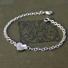 sterling heart bracelet images Sterling silver handmade heart bracelet by alison moore designs jpg