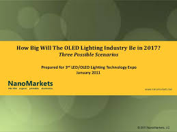 led oled lighting technology expo how big will the oled lighting industry be in 2017