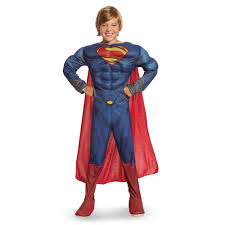 Superman Toddler Halloween Costume Man Steel Superman Deluxe Muscle Chest Toddler Child Costume