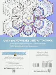 snowflake bentley book amazon com creative haven snowflake designs coloring book