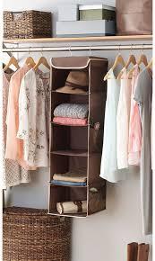 amazon com zober 5 shelf hanging closet organizer 6 side mesh