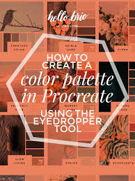 how to create a color palette in procreate using the eyedropper