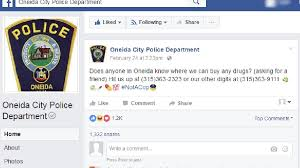 Where To Seeking Oneida Pd S Post Seeking Tips On Where To Buy Drugs Goes Viral Wstm