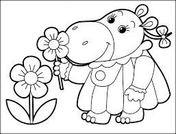 baby hippo coloring pages online printable kids coloring pages color zini