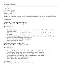 resume for a exle investigator resume sales investigator lewesmr