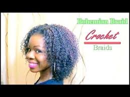 how to style crochet braids with freetress bohemia hair natural hair protective style crochet braids bohemian braid youtube