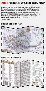 Venice Map Streetwise Venice Water Bus Map Laminated Vaporetto Venice Map