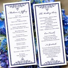 where to print wedding programs wedding program template vintage navy blue editable word