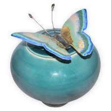 butterfly urn papillon peacock ceramic urn