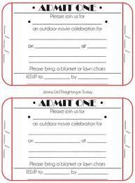 red ticket invitations to movie night mighty u2022life list
