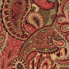 Tapestry Upholstery Fabric Online Burgundy Green And Red Paisley Contemporary Upholstery Fabric By