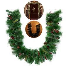 Garland With Lights Bestoyard Wreath Decorative Garland With Pine Cone Acorn