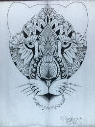 thigh tattoo sketches mandala tattoo design lioness by francisco ordonez calgary ab