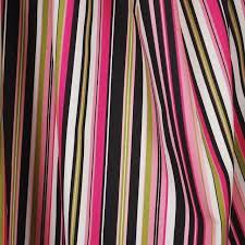 Striped Drapery Fabric Beach Umbrella Black Pink Waverly Striped Fabric Traditional