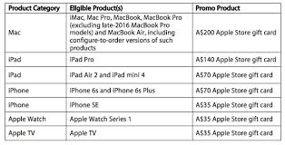 apple offering free gift cards worth up to 200 with select