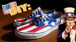 American Flag Shoes Diy Usa Flag Shoes Sperry Youtube