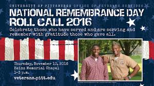 2016 national remembrance day roll call university of pittsburgh
