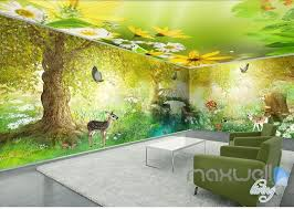Kid Room Wallpaper by Fairy Tale Forest Deer Butterfly Entire Kids Room Wallpaper 3d