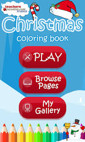 christmas coloring book games android apps google play