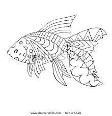 zentangle stylized cartoon star fish hand stock vector 664138831