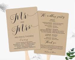 Rustic Wedding Program Template Rustic