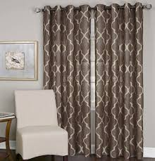 amazon com elrene home fashions medalia window panel mocha 52