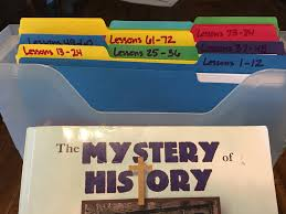 how to organize mystery of history for the year freely learned