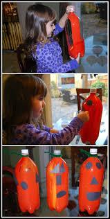 halloween crafts soda bottle pumpkins mess for less