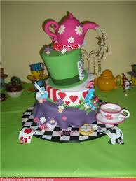 art mad hatter tea party cake party ideas my style pinterest