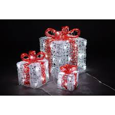 novolink 10 in 66 white led decorative gift box set 3 count as