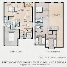 vacation home floor plans floor plan of emerald island orlando 5 bed villa stitch s magic