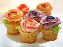cupcake flowers cupcakes with piped flowers recipes cooking channel recipe