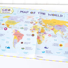 Antarctica World Map by Child U0027s World Map By Geo Journey Notonthehighstreet Com