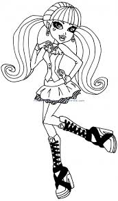 coloring pages girls monster scenic coloring pages