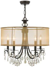 Crystorama Chandeliers Sale Crystorama 5625 Eb Crystal Accents Five Light Chandelier From