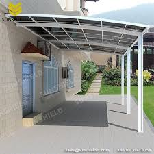 Porch Awnings For Home Aluminum Aluminum Patio Polycarbonate Roof Gate Cover Sunshield Shelter