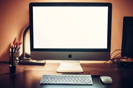 furniture captivating imac computer desk with table lamp and