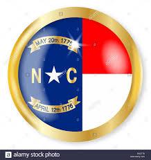 North Carolina Flag North Carolina State Flag Button With A Gold Metal Circular Border