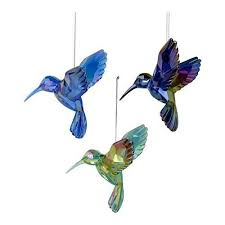 kurt s adler blue purple acrylic hummingbird ornament