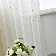 Sheer Embroidered Curtains Chic Flower Tall Embroidered Sheer Curtains