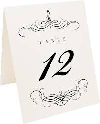 flourish monogram 04 wedding table numbers and monogram table card