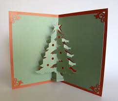 pop up christmas cards christmas tree pop up up greeting card home décor 3d handmade