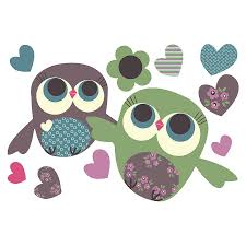 mini pair of owls removable fabric wall stickers mini pair of owls removable fabric wall sticker